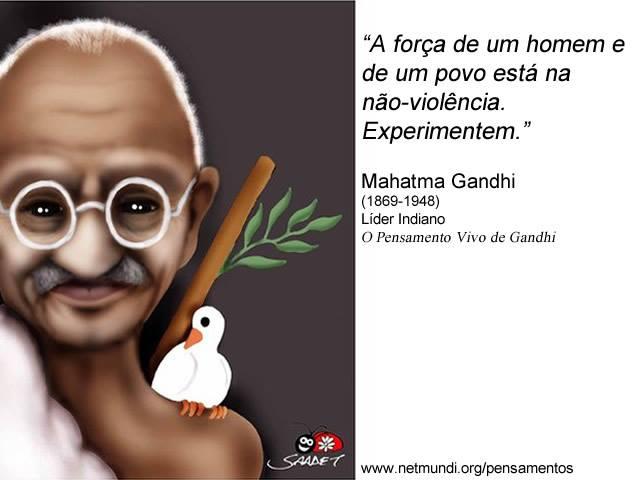 Professor Borges Campanha Por Uma Cultura Da Paz Frases De Gandhi