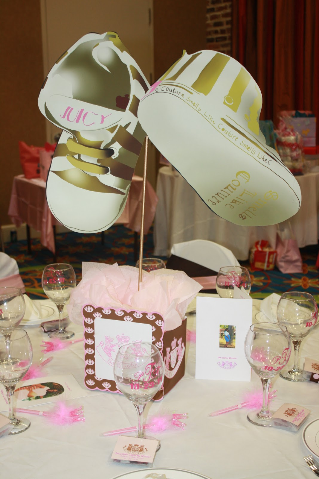 Juicy Couture Baby Shower Juicy Baby Shower Centerpieces