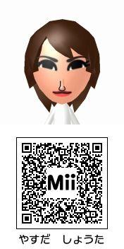 安田章大(関ジャニ∞)のMii QRコード トモダチコレクション新生活