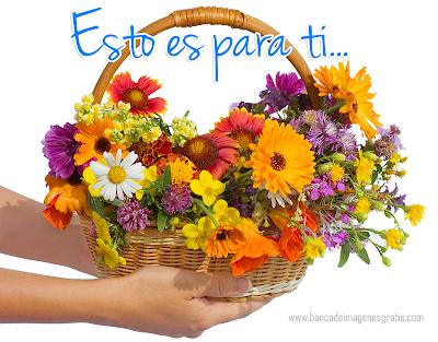 Arreglo floral con mensaje para compartir