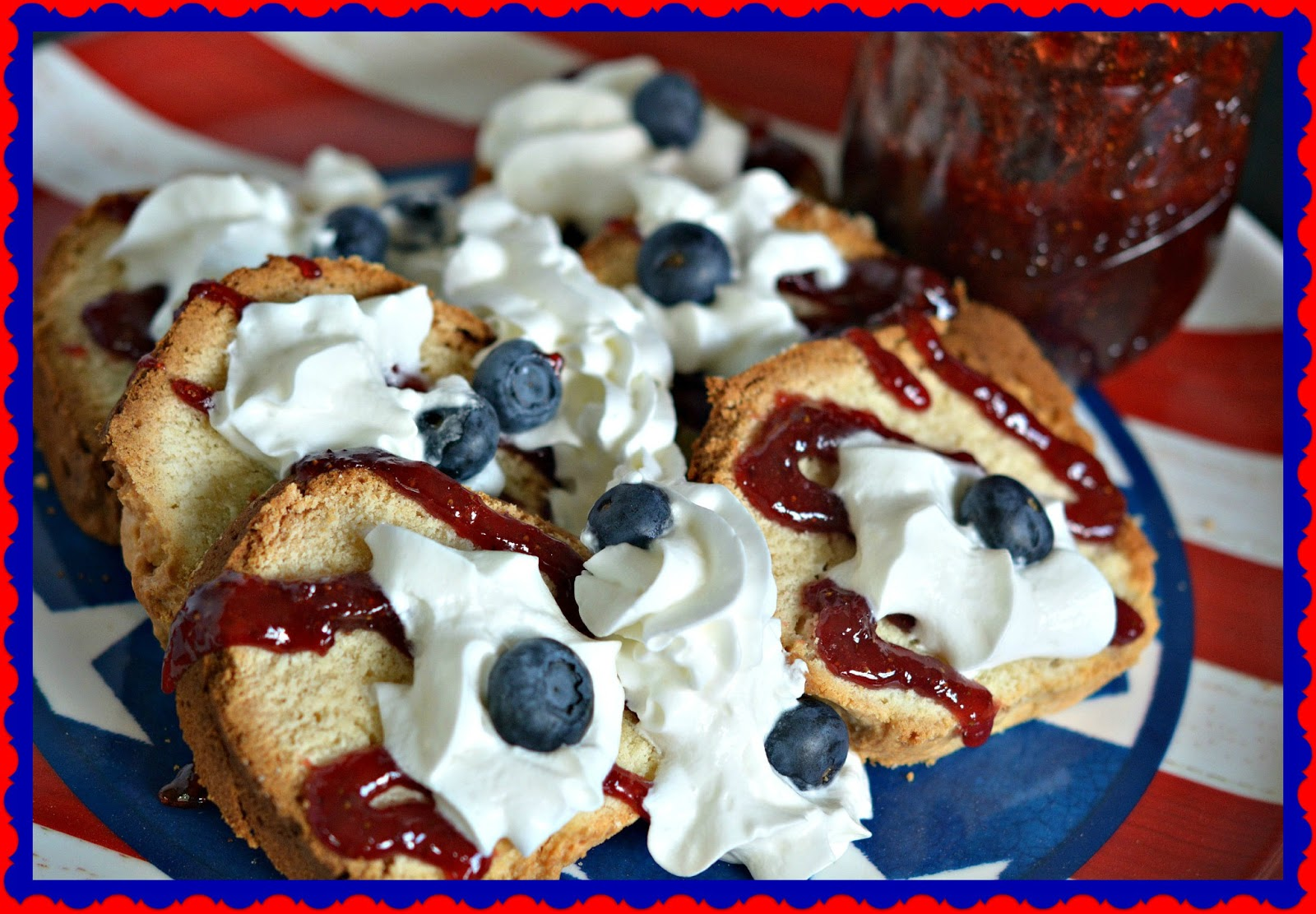 Cream Cheese Pound Cake Topped With Homemade Jam Amp Berries
