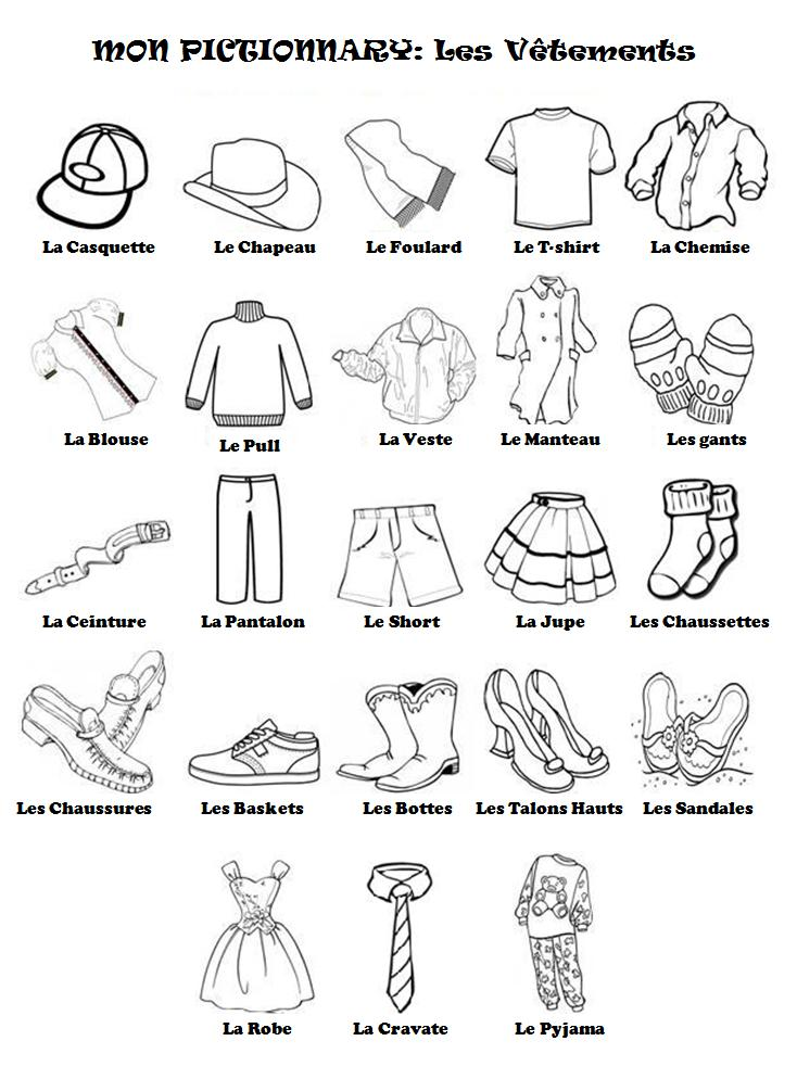 1000 images about fle les v tements on pinterest student centered resource - Les vetements d hiver ...