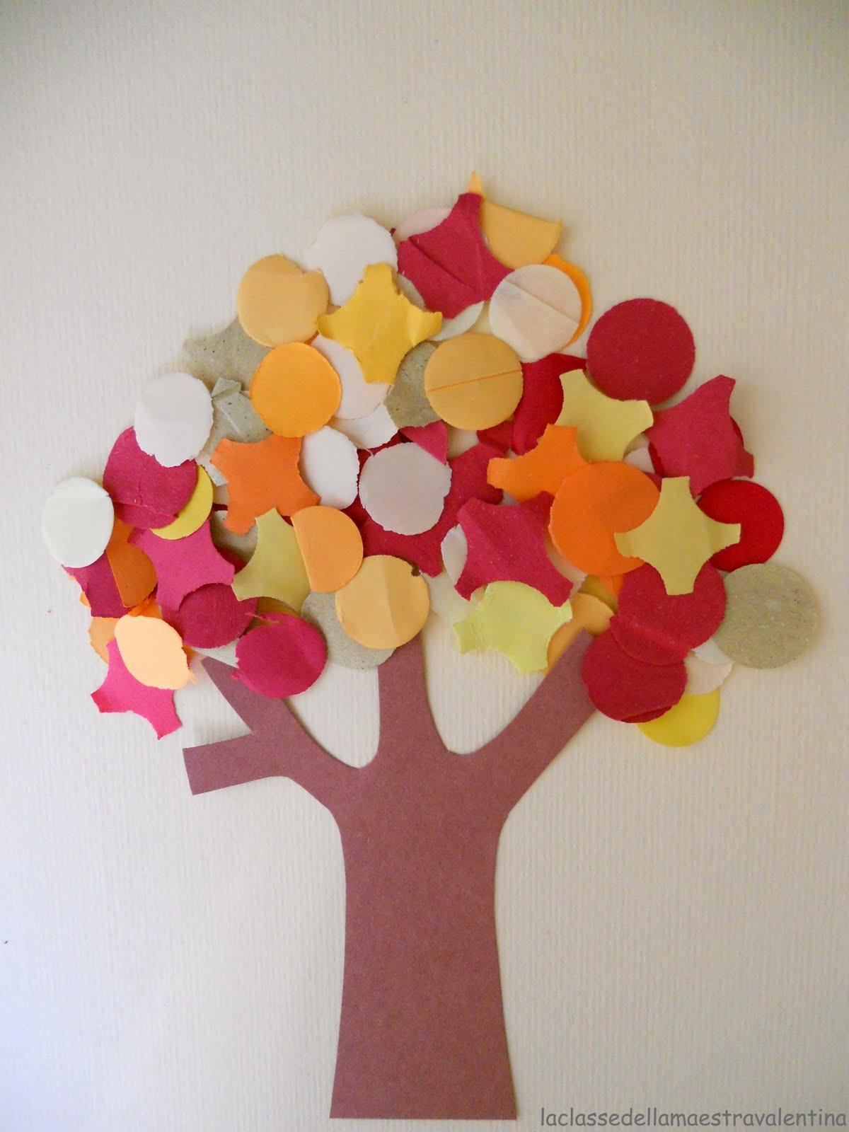 La classe della maestra valentina collages d autunno for La classe della maestra