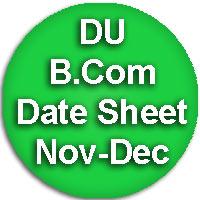 DU Commerce Exam Date sheet for Nov Dec 2015