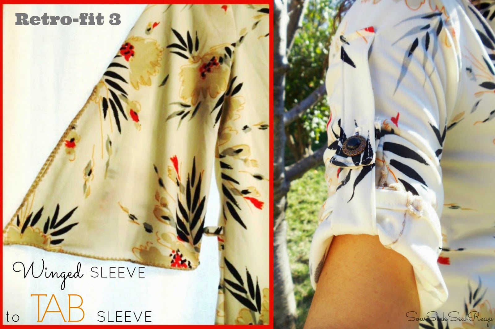 diy tab sleeve, fixing sleeves, retro redo's, retro clothing, thrifted retro