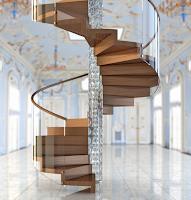 Nowoczesne schody spiralne