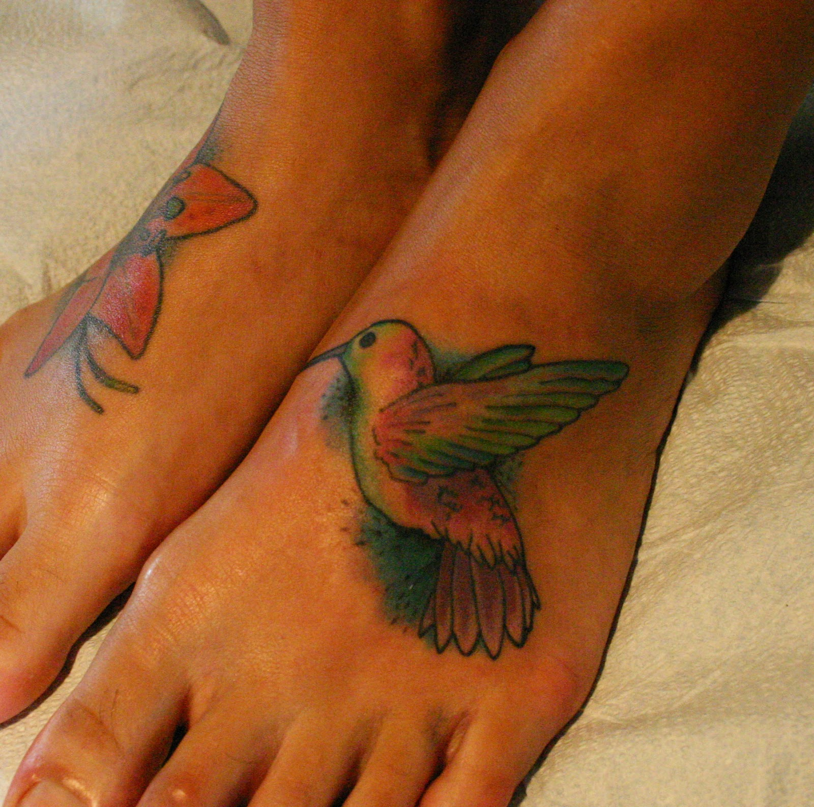Hummingbird Tattoo On Foot Magical Mystery Tattoo...