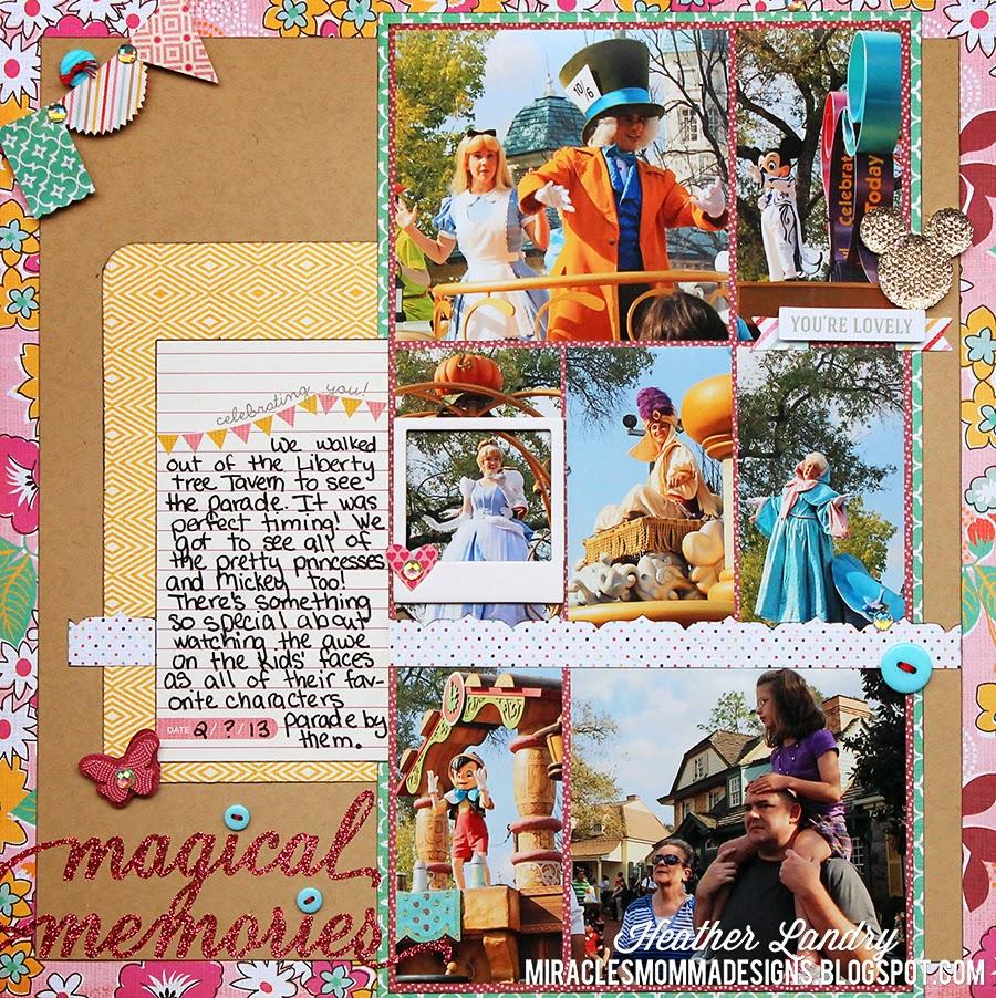 Princess Parade_Scrapbook Page_Disney