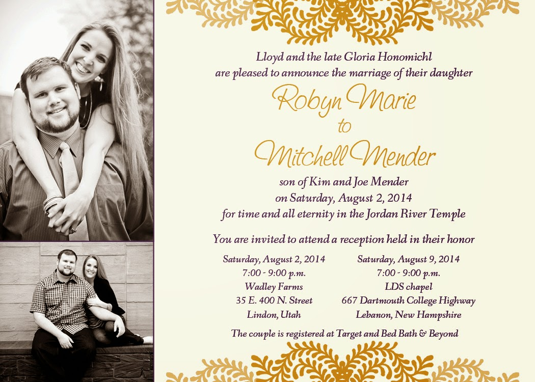 Personalized wedding invitation 2014 posted by cmor monicamarmolfo Images