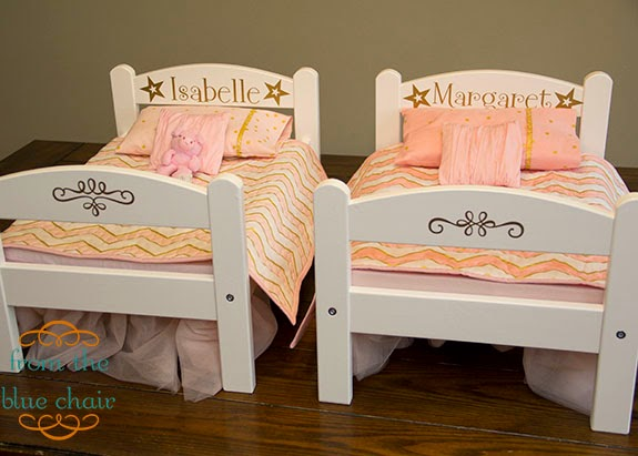 Cute I started out with two plain wood Ikea doll beds These beds are a fantastic deal They are sturdy plain wood that is easy to finish as desired