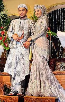 gaun pengantin muslimah terbaru