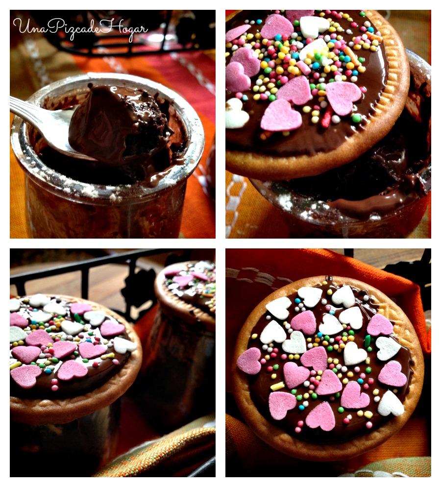 Bizcochos chocolate al microondas