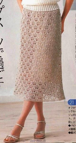 TRICO y CROCHET-madona-mía: Faldas (saias) a crochet con patrones de ...