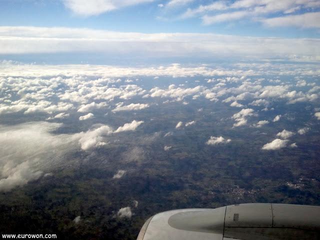 Nubes vistas desde un avión