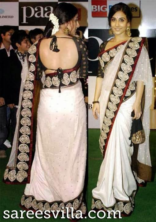 Quarter Sleeves Saree Blouse Designs | Sarees Villa Sabyasachi Anarkali Suits Collection 2013