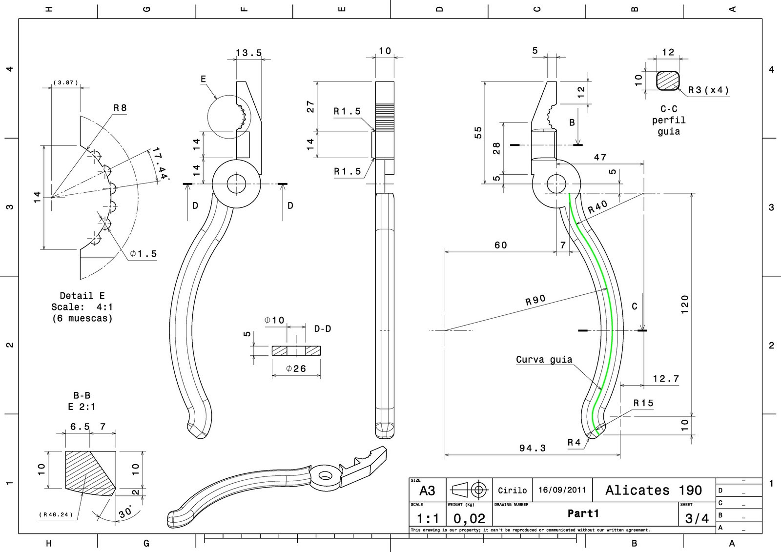 scale imported pdf in autocad
