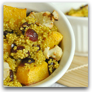 Curry Cranberry Caulilfower Quinoa and Squash