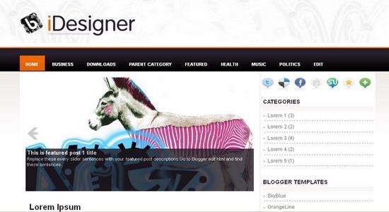 Premium Blogger Template 2013
