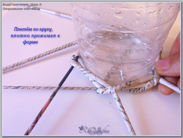 узлы плетения спиралью