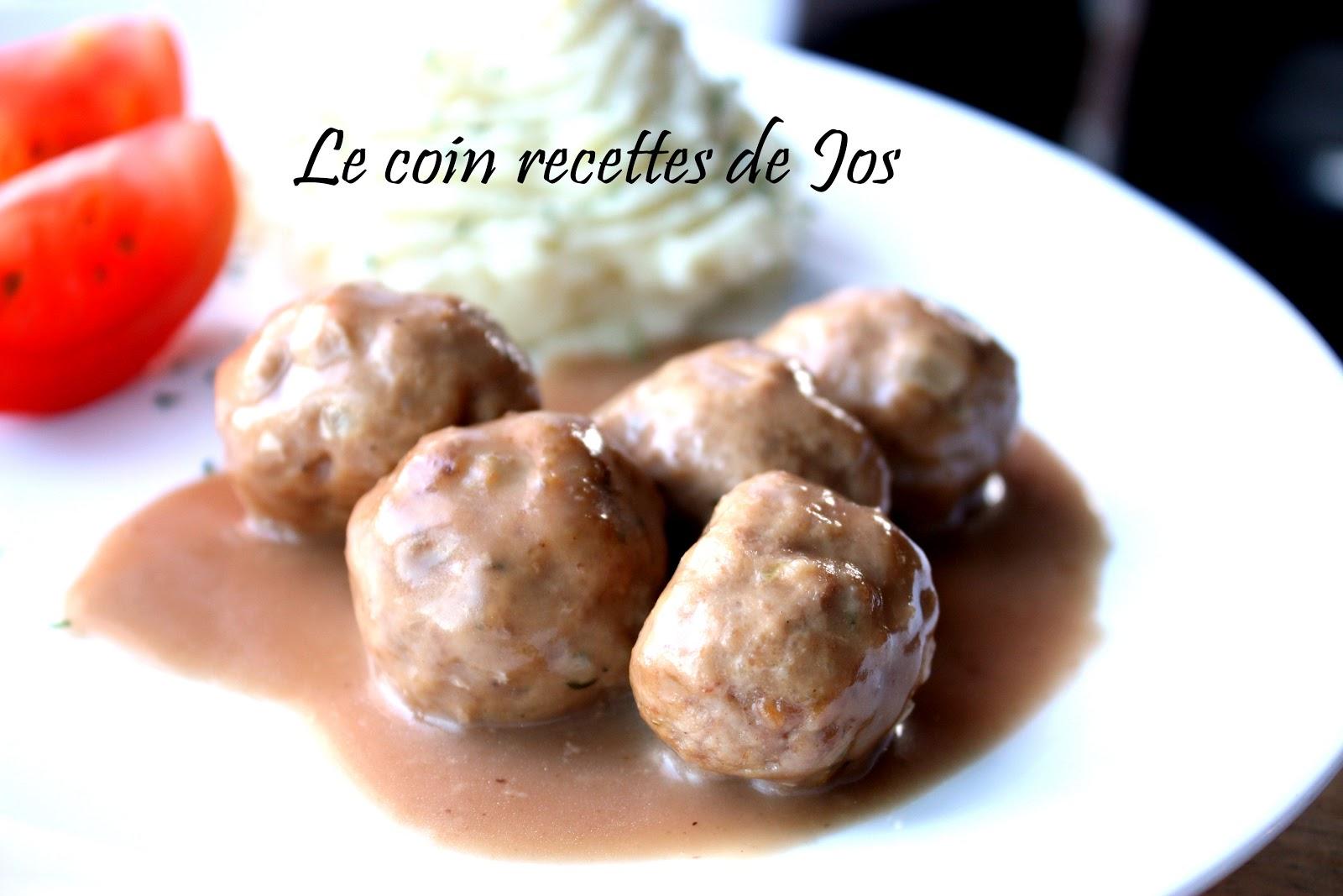 Le coin recettes de jos boulettes de viande sauce su doise - Boulette de viande en sauce ...