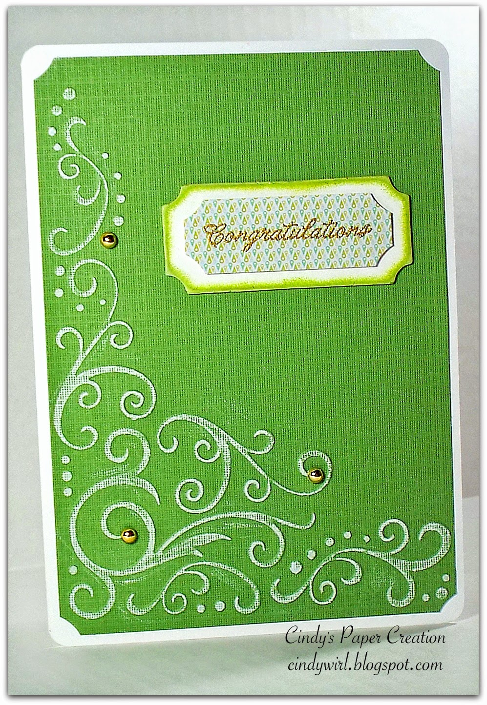 Congratulations handmade card