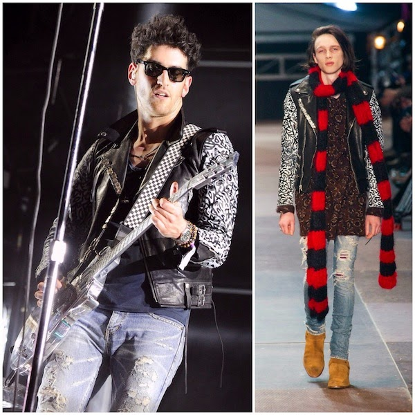 David Macklovitch (Dave 1) from Chromeo in Saint Laurent - 2014 Coachella Valley Music & Arts Festival