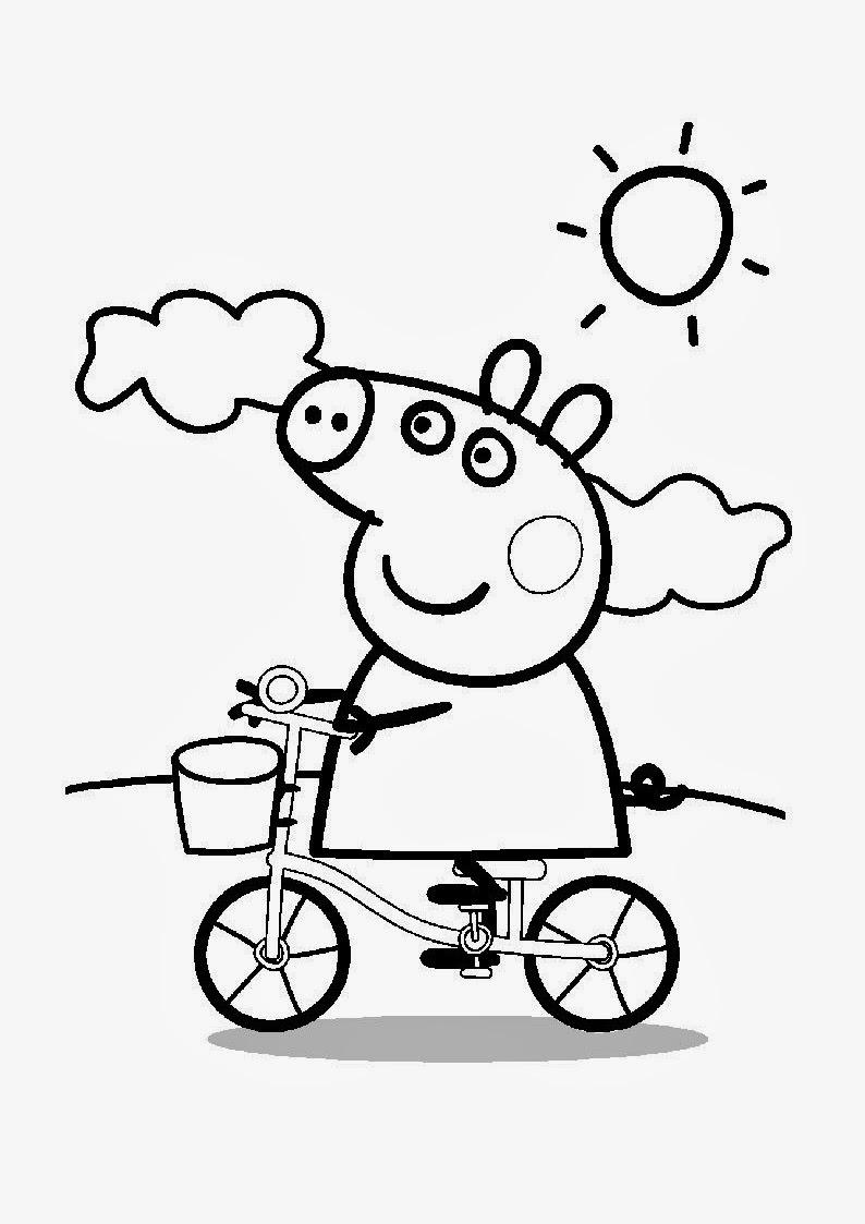 Banco de Imagenes y fotos gratis: Dibujos de Peppa para Colorear ...