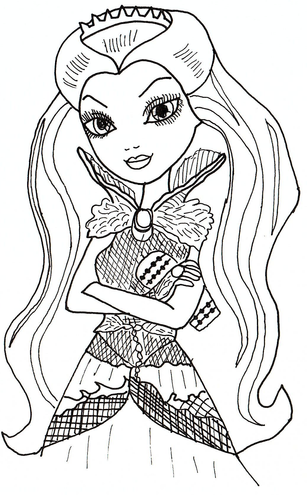 Free printable ever after high coloring pages june 2013 for Madeline coloring pages printable