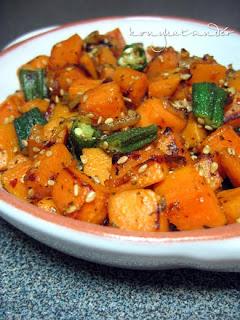 fried-sesame-sweet-potato-okra