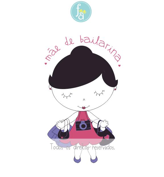 Ilustração mãe de bailarina, Ana Botafogo