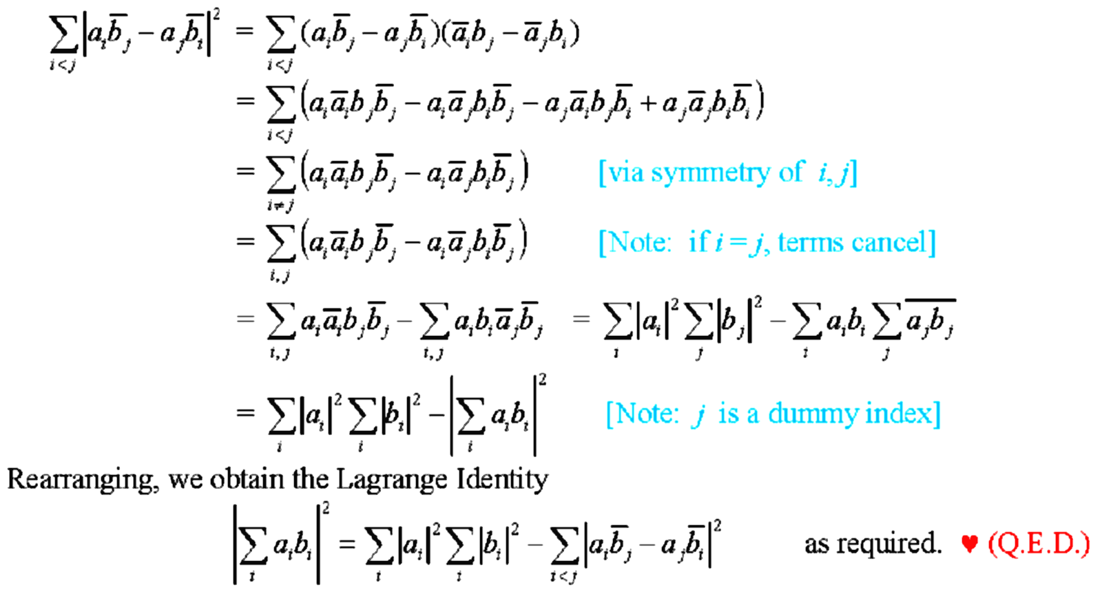 an analysis of the mathematical equation and an example of a question and solution to the identity n 3 most every binomial identity can be proved using mathematical  for example, consider this counting question:  for the identity \begin{equation} {n \choose 0.