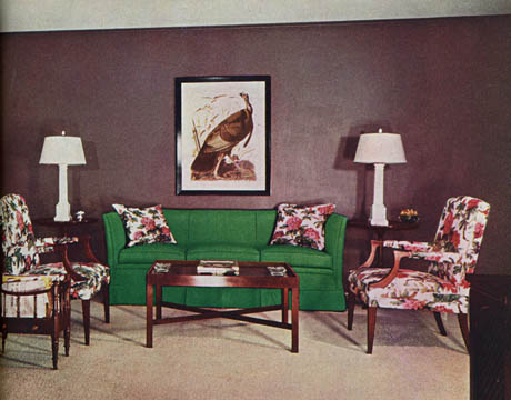 Dorothy Draper Via House Beautiful. Just Love The Sofa, Chairs Tables And  Lamps.