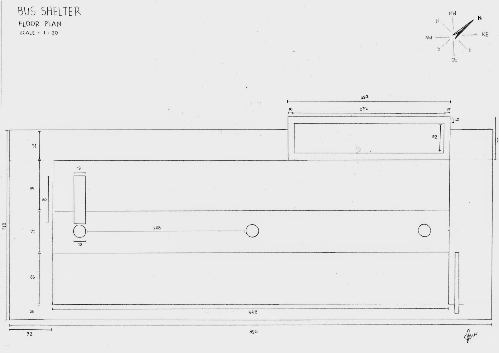 Plan Elevation Section Of Bus Stop : Bella designs ar architectural drawing plan