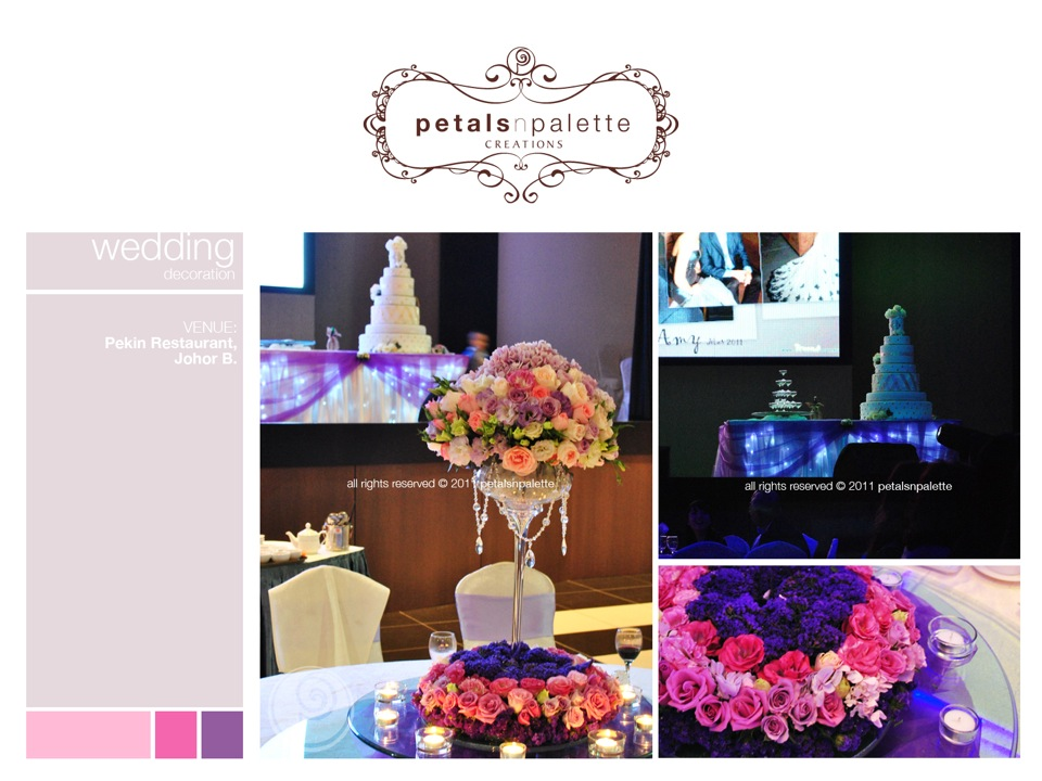 Wedding event decoration wedding decoration malaysia floral wedding decor centerpiece cake champagne table decor junglespirit Choice Image