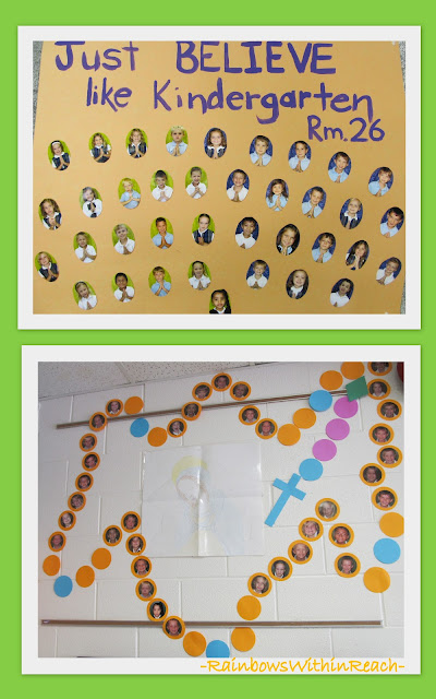 photo of: Catholic School Bulletin Boards, Rosary Bulletin Board