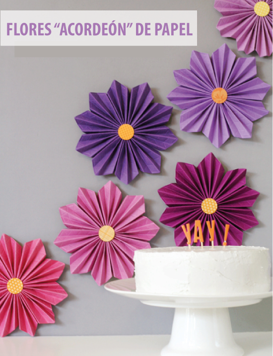Imagenes fantasia y color flores de papel para decorar - Decorar pared con papel ...
