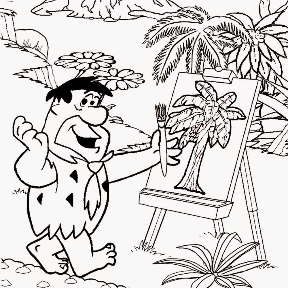free coloring pages printable pictures to color kids drawing ideas flintstones coloring stone