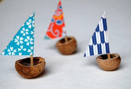 un rinc n creativo c mo hacer un barco con la c scara de una nuez