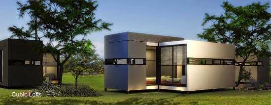 Arquitectura de casas modelo de casa m dulo compacta en - Casas contenedor espana ...