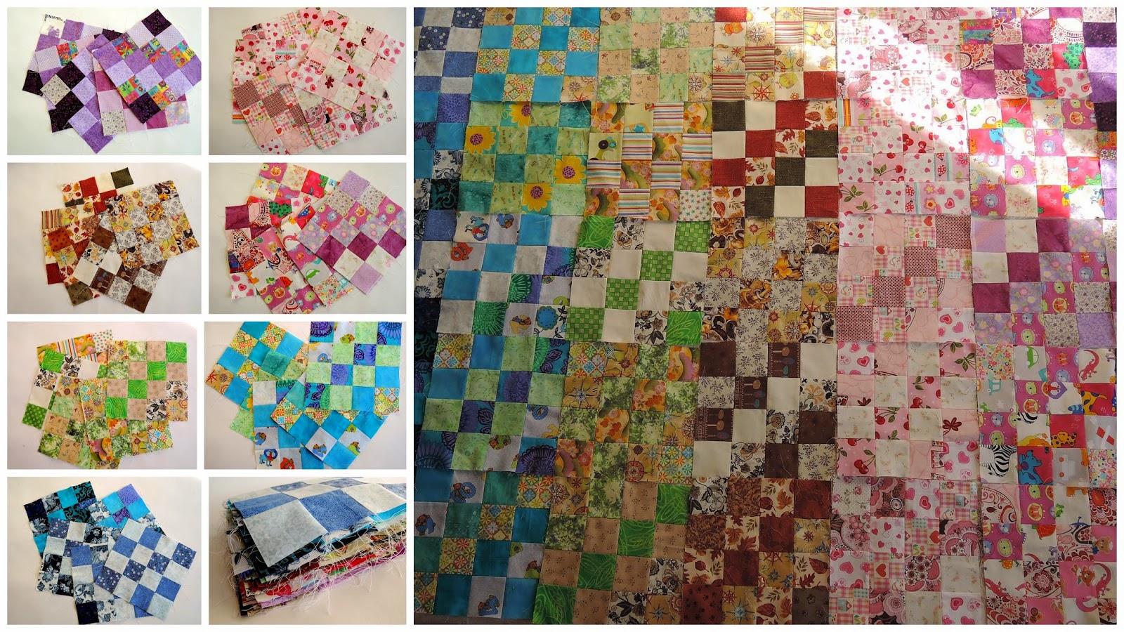 совместный пошив одеяла из лоскутков