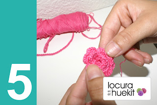 5. Paso a paso flor crochet en relieve