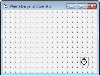 Membuat Program Form Berubah Warna Otomatis Dengan Visual Basic 6.0