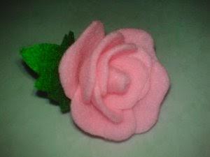 Membuat Bros Bunga Mawar