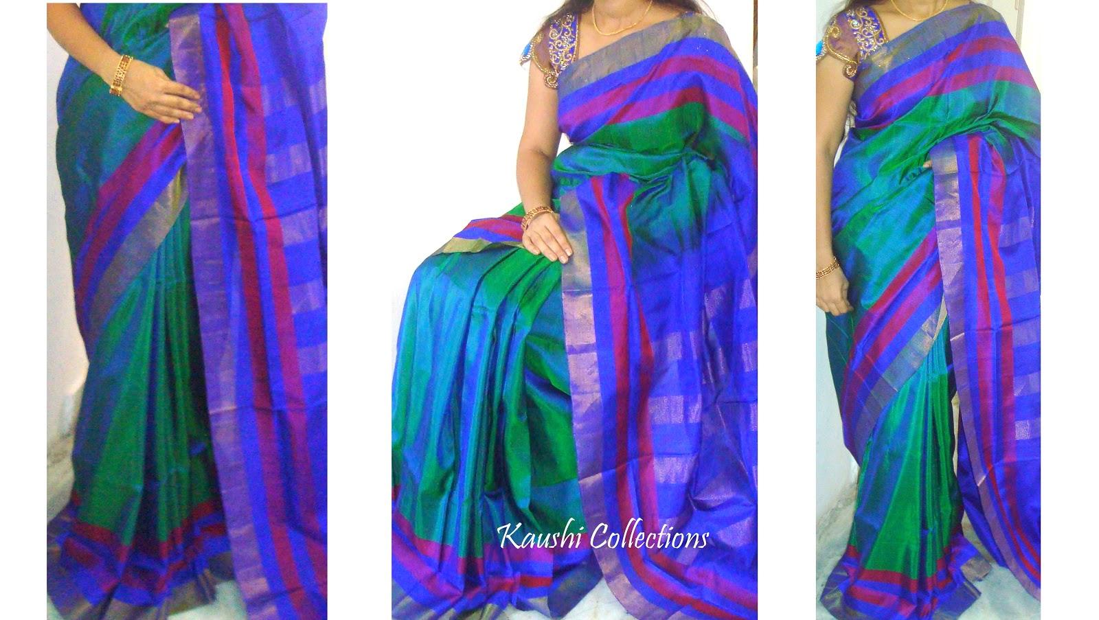 Plain Shaded Sarees Online