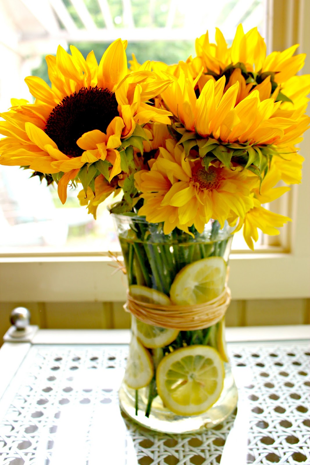 When life hands you lemons sunflower lemon vase