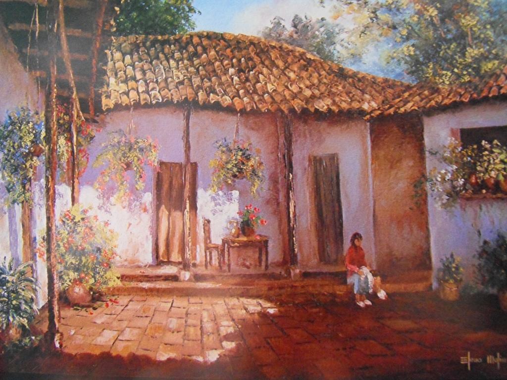 Cuadros modernos pinturas y dibujos 07 09 13 - Casas viejas al oleo ...