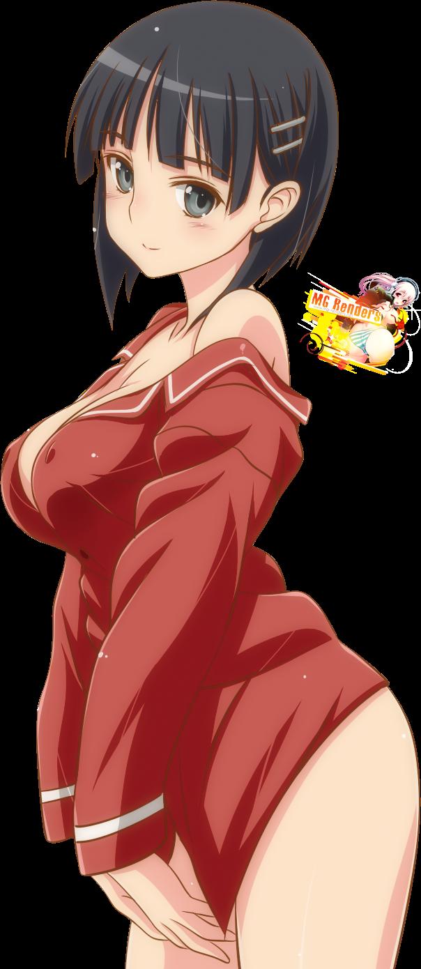 Tags: Anime, Render,  Kirigaya Suguha,  Sword Art Online,  PNG, Image, Picture