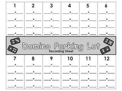 math worksheet : first grade school box domino addition parking lot : Domino Math Worksheets First Grade