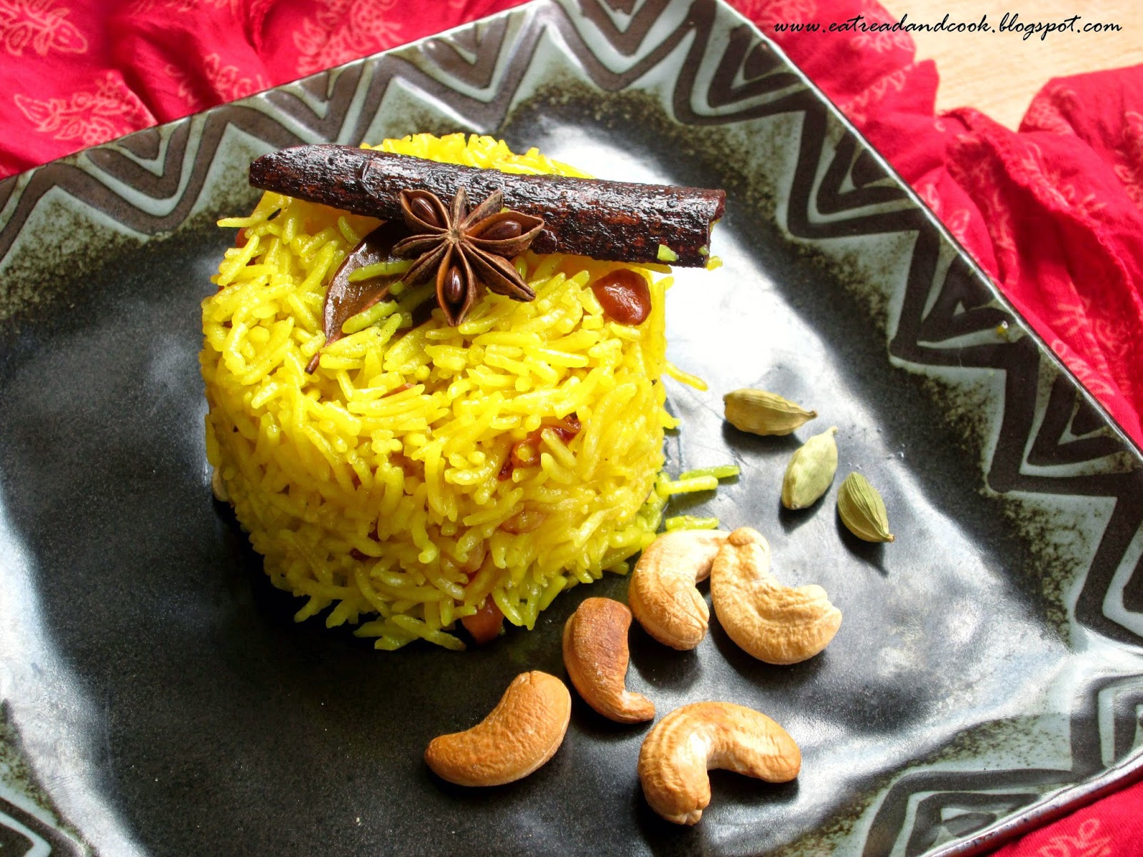 holud pulao recipe bengali yellow sweet pulao recipe