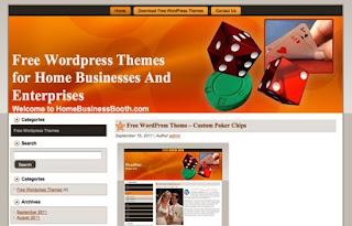 Custom Poker Chips Blogger Template